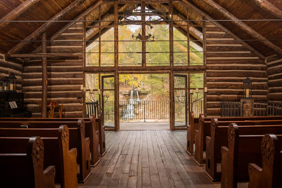 Interior of Hope Wilderness Chapel